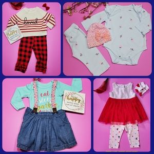 BABY GIRL CLOTHES BUNDLE SIZE 3-6M.